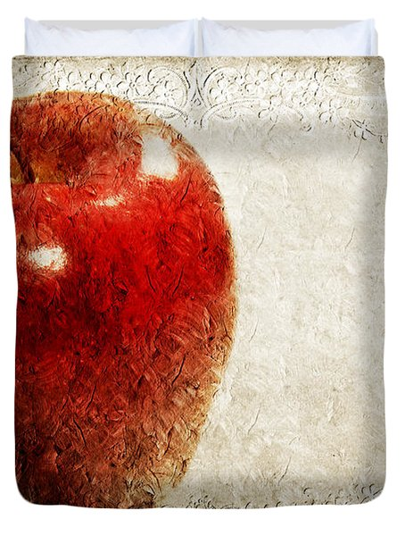 An Apple A Day Duvet Cover by Andee Design