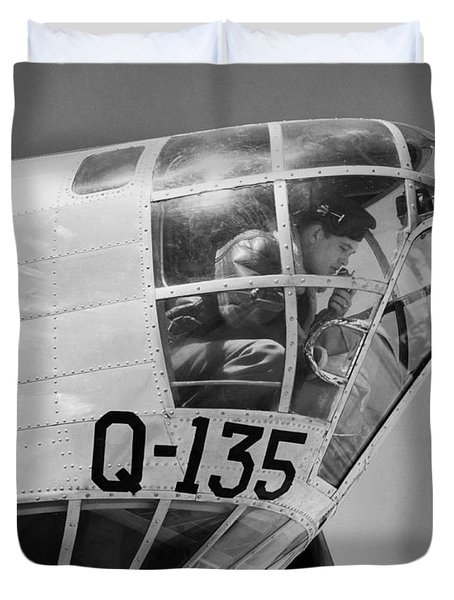 An Army Air Force Bombardier Duvet Cover