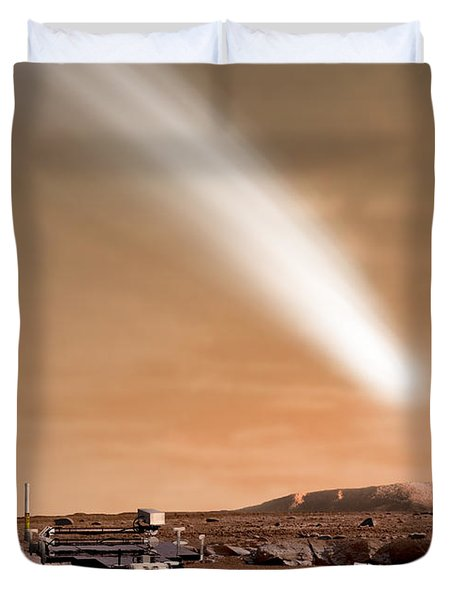 An Artists Depiction Of The Close Pass Duvet Cover by Marc Ward