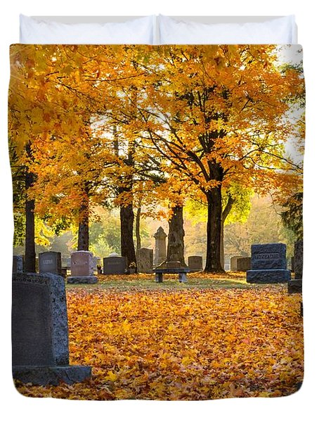 Duvet Cover featuring the photograph Forest Hill Autumn Light  by Mary Amerman