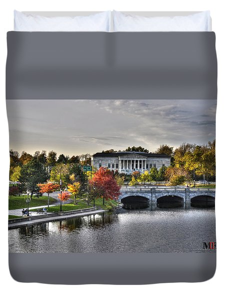 An Autumn Day At Hoyt Lake...dusk Oct2014 Duvet Cover by Michael Frank Jr