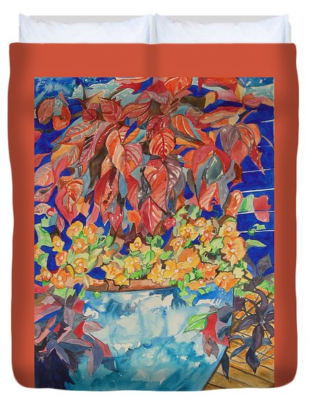 An Autumn Floral Duvet Cover