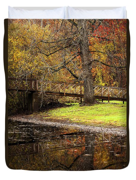 An Autumns Moment Duvet Cover by Karol Livote