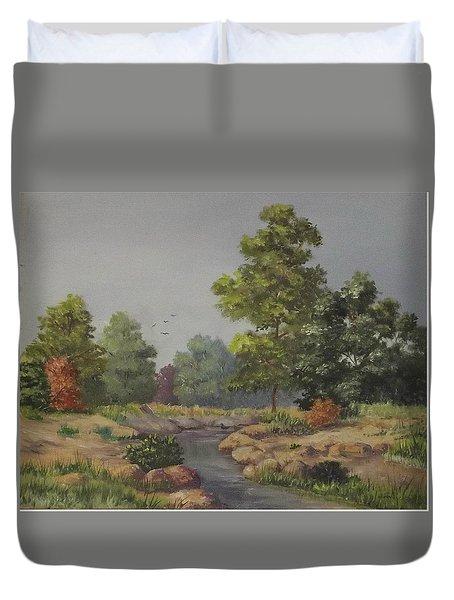 An East Texas Creek Duvet Cover by Wanda Dansereau