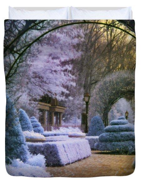 An English Garden Duvet Cover by Jason Kolenda