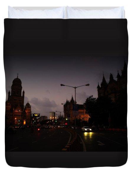Duvet Cover featuring the photograph Mumbai by Salman Ravish
