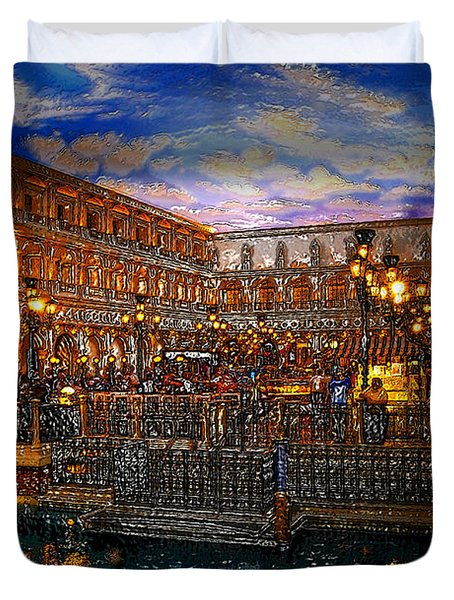 An Evening In Venice Duvet Cover by David Lee Thompson