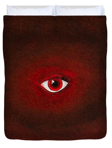 An Eye Is Upon You Duvet Cover by Stefanie Forck