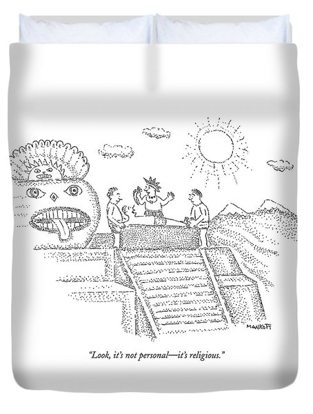 An Inca Priest Speaks To A Person Who Duvet Cover