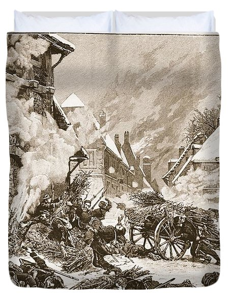 An Incident In The Battle Duvet Cover