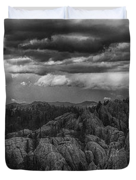 An Incoming Storm Over The Black Hills Of South Dakota Duvet Cover
