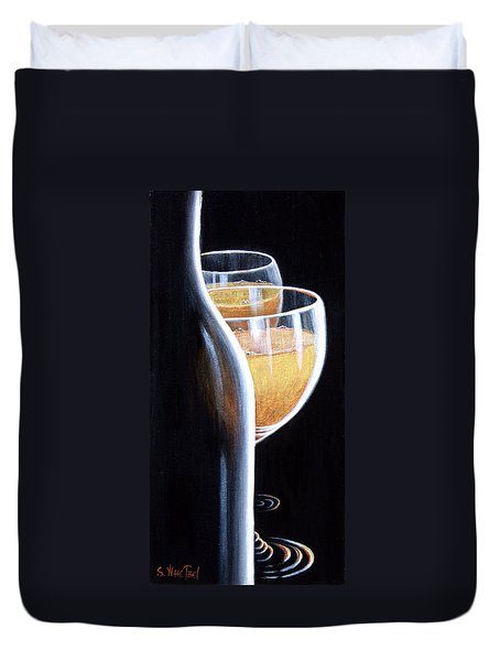 Duvet Cover featuring the painting An Indecent Proposal by Sandi Whetzel