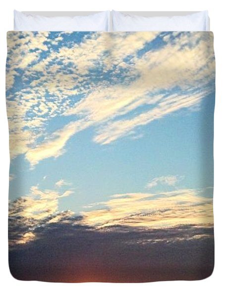 An Ocean And A Sunrise Duvet Cover