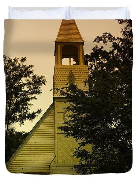 An Old Church Near Moxee Wa Duvet Cover by Jeff Swan