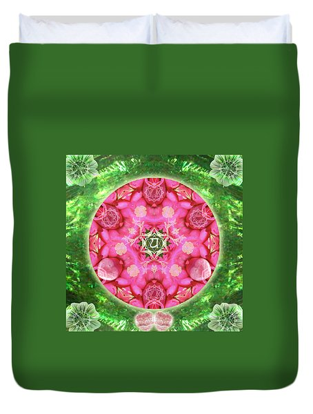 Anahata Rose Duvet Cover