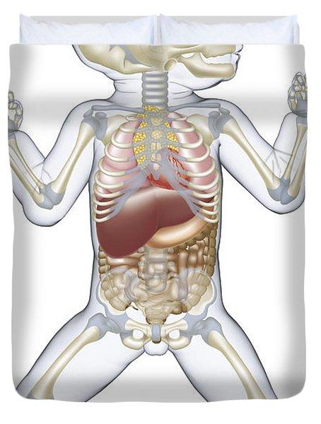 Anatomy Of A Newborn Baby Duvet Cover