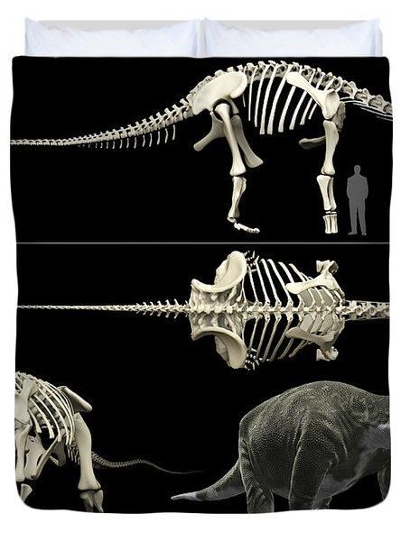 Anatomy Of A Titanosaur Duvet Cover by Rodolfo Nogueira