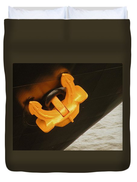 Anchor Waiting Duvet Cover