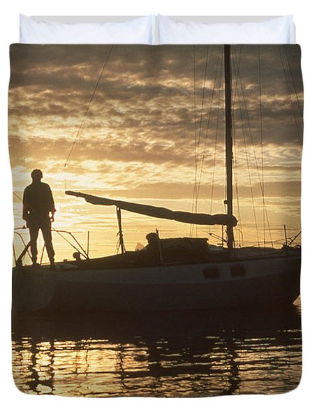 Anchored Duvet Cover by Mark Alan Perry