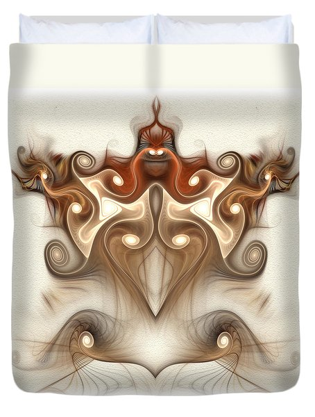Ancient Carving Duvet Cover by Svetlana Nikolova