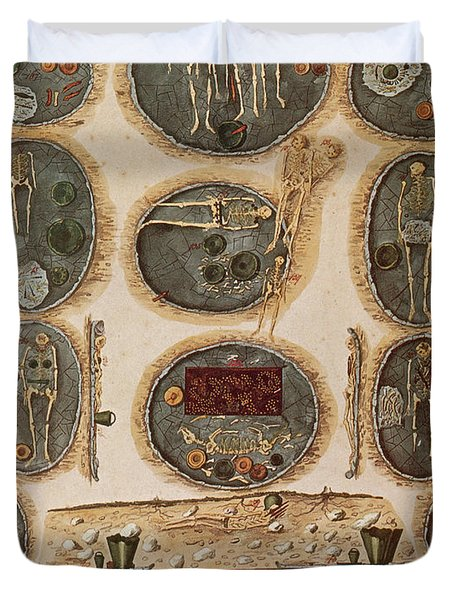 Ancient Celtic Cemetery Hallstatt Duvet Cover by Science Source