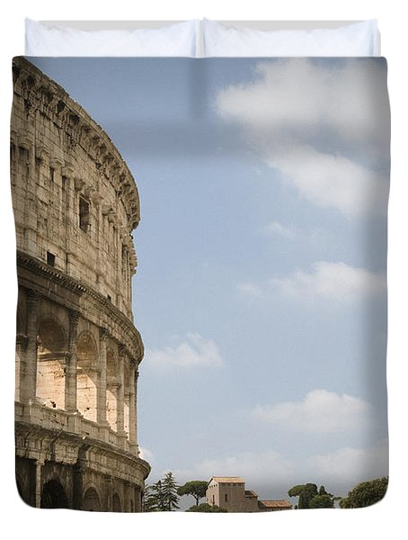 Duvet Cover featuring the photograph Ancient Colosseum by Jeremy Voisey