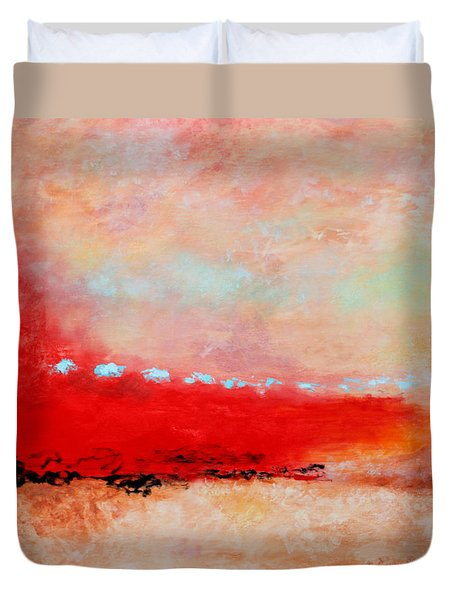 Duvet Cover featuring the painting Ancient Dreams by M Diane Bonaparte
