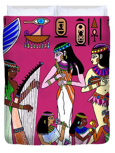 Ancient Egypt Splendor Duvet Cover