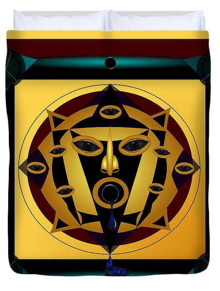 Ancient Eyes Duvet Cover