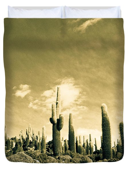 Duvet Cover featuring the photograph Ancient Giants by Lana Enderle