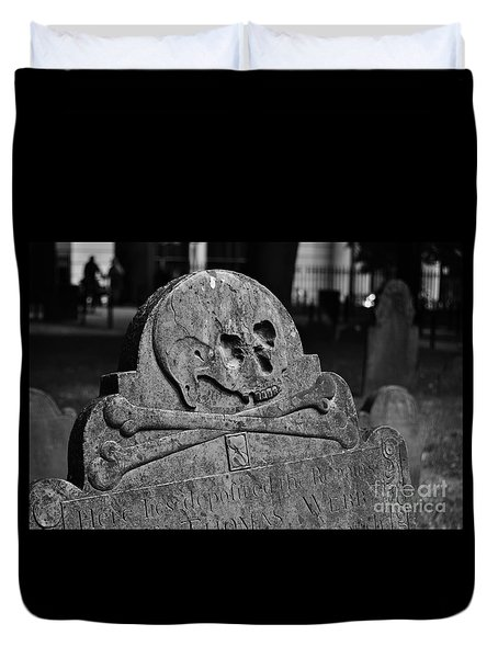 Ancient Gravestone Duvet Cover