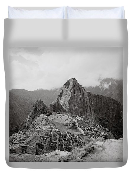 Ancient Machu Picchu Duvet Cover