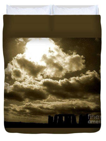 Duvet Cover featuring the photograph Ancient Mystery by Vicki Spindler