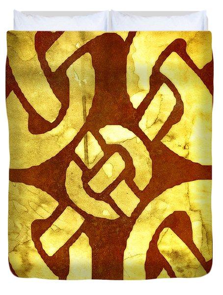 Ancient Ornamental Celtic Design Duvet Cover