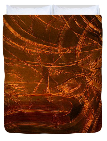 Duvet Cover featuring the digital art Ancient by Richard Thomas