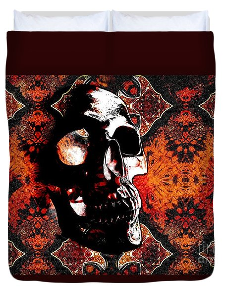 Ancient Skull Duvet Cover by Annie Zeno