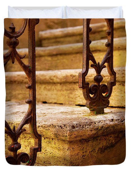 Ancient Steps Duvet Cover by Brian Jannsen