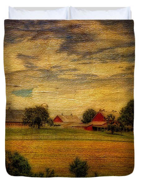 And The Livin' Is Easy Duvet Cover by Lois Bryan