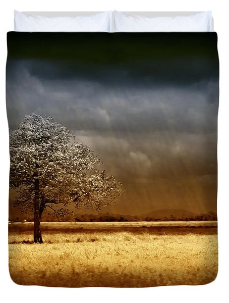 And The Rains Came Duvet Cover