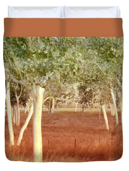 Duvet Cover featuring the photograph And The Trees Danced by Holly Kempe