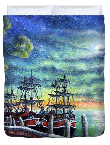 And We Shall Sail My Love And I Duvet Cover