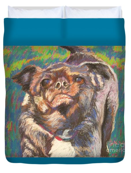 And Your Little Dog Too Duvet Cover by Katrina West