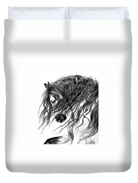 Andalusian Arabian Head Duvet Cover by Cheryl Poland