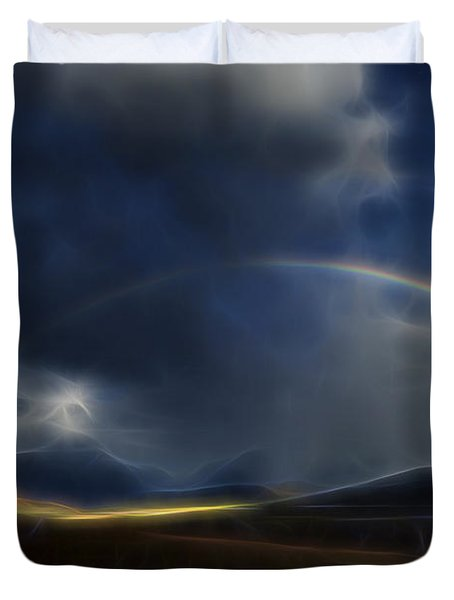 Duvet Cover featuring the digital art Andean Rainbow by William Horden