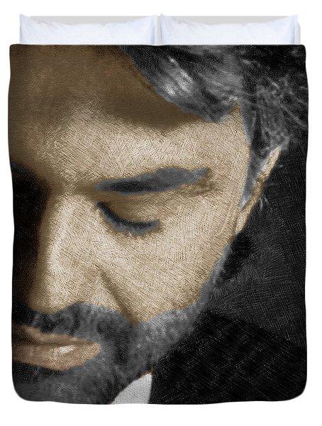 Andrea Bocelli And Square Duvet Cover