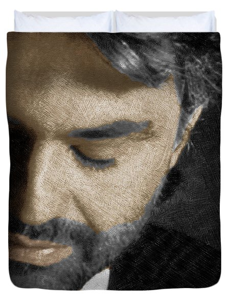 Andrea Bocelli And Square Duvet Cover