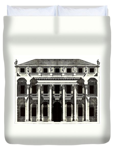 Duvet Cover featuring the photograph Chiericati House Plan Andrea Palladio by Suzanne Powers