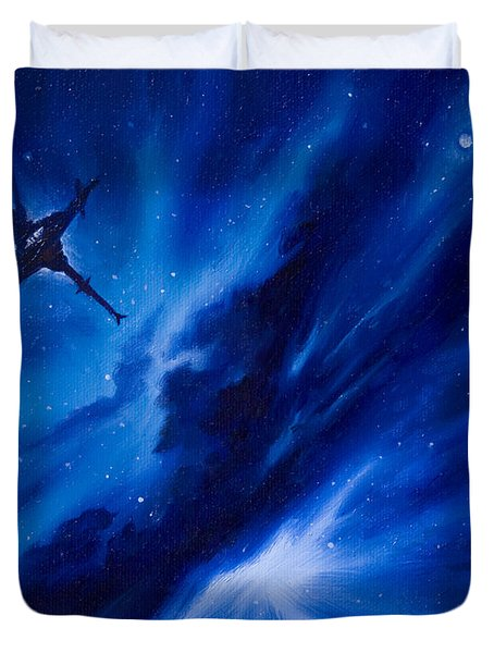 Andreas Nebula Duvet Cover by James Christopher Hill