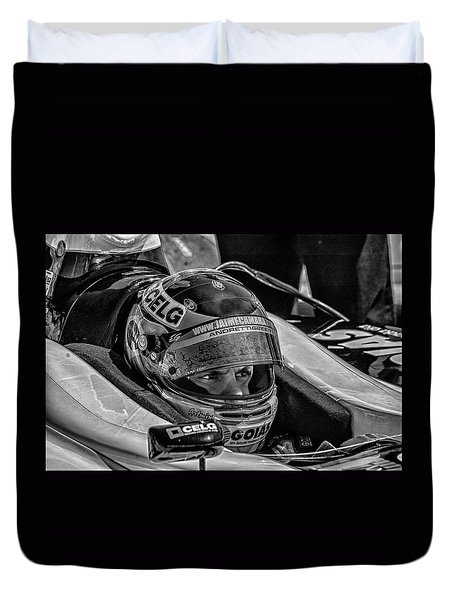 Andretti Driver Duvet Cover by Kevin Cable