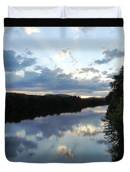 Androscoggin River Reflections Duvet Cover